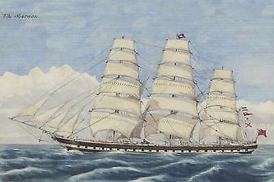 SOBRAON Clipper & Training ship at Sydney 1890s Art Modern Digital Postcard