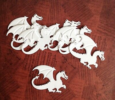 Die Cut and Embossed Dragons (pack of 8) White