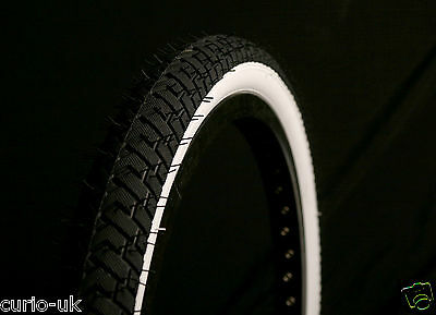 2 of BMX TYRES TIRES BLACK WHITEWALL  20 X 2.125 LS214 CLEARANCE DIRTY W/MARKING