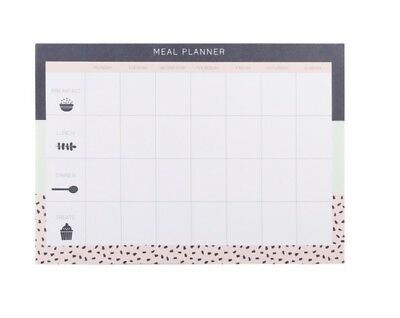 NEW Weekly Meal Planner Pad 60 Pages Health Plan Food Tracker Journal w/TRACKING