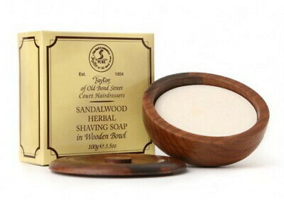 Taylor of old Bond Street Rasierseife Sandalwood Soap Sandelholz in Holzschale
