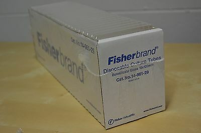 FISHERBRAND DISPOSABLE BOROSILICATE CULTURE TUBES 12mm x 100mm (BOX OF 250)