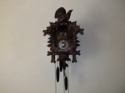 Vintage Regula Automated Cuckoo Clock Dancing People Musical Nodding Carved Bird