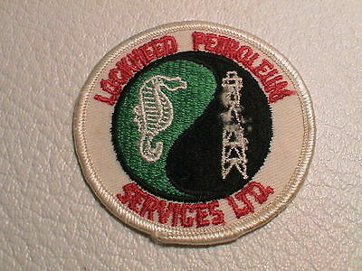 Lockheed Petroleum Gas Gasoline Oil Drilling Rig Refinery Auto Car Patch Used