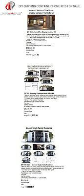 DIY Shipping Container Modular Home Kit - Container 40ft W x 8' L X 9.5ft H