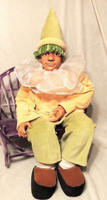 """32"""" HAND CRAFTED JESTER CLOWN DOLL by G B RETAILERS - MINT CONDITION!"""