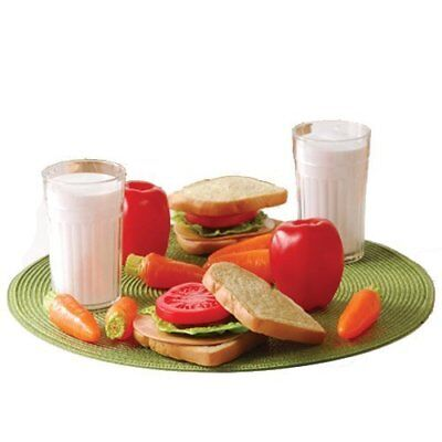 Cp Toys 20 Pc. Pretend Play Healthy Lunch Plastic Food Set For Two