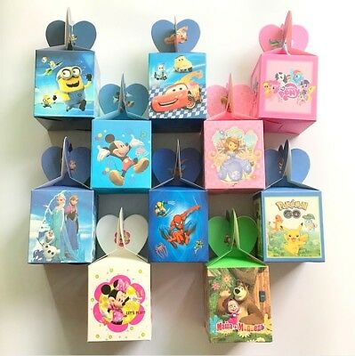 6 x Children Kids Birthday Party Favor Candy Box Goody Bag Filler Supplies