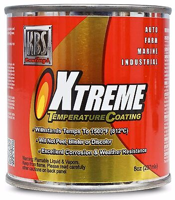 ★ NEW KBS Coatings 65202 Xtreme Temperature Coating Paint Jet Black 1500° F 8 oz