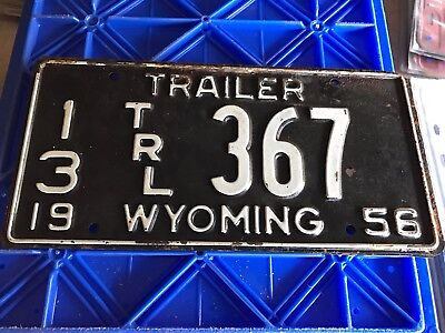 1956 Wyoming Trailer License Plate 13 367