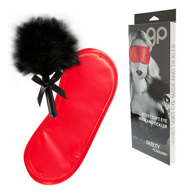 Kit 2 Piezas Gp Velvet Soft Eye Mask And Tickler Rojo | Guilty Pleasure