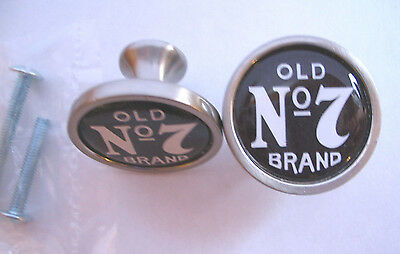 Old No 7 Brand Cabinet Knobs, Jack Daniel's Logo Cabinet Knobs, old No 7 Brand