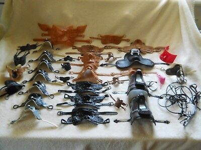 Huge Model Horse Saddle Lot Kid Kore / Breyer ? / Barbie ? Style