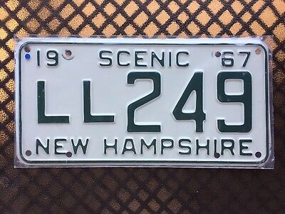 1967 New Hampshire License Plate Ll249
