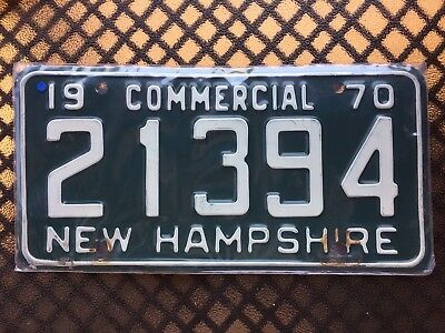 1970 New Hampshire Commercial License Plate 21394