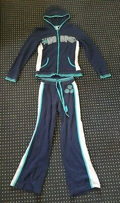 Limited Too Size 16 Jumpsuit Basketball Hoops Navy Blue/Teal/White 2 piece set