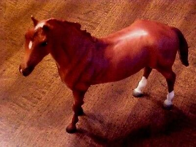 Breyer Horse Cinnamon Brown Color With Back White Feet