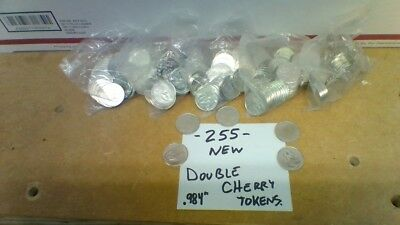 Double Cherry Pachislo Slot Tokens - Lot of 255 NEW!