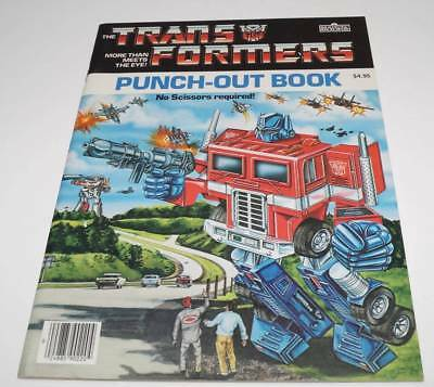 Optimus Prime Megatron Punch-Out Book Book DEAD STOCK Mint 1985 G1 Transformers