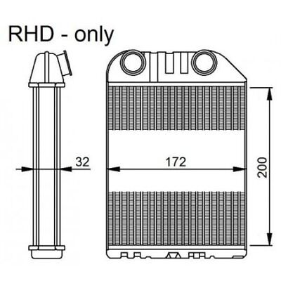 NRF Heat Exchanger, Interior Heating 54286