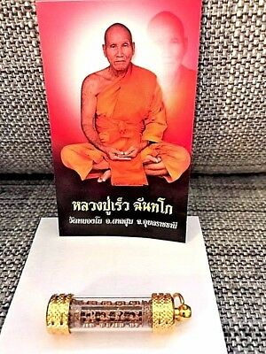 Real powerful LP Rew intense protection, charm, health, luck, prosperity takrut!