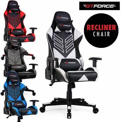 Gtforce Pro St Reclining Sports Racing Gaming Office Desk Pc Leather Chair