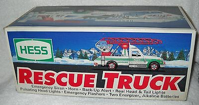 1994 HESS RESCUE TRUCK NIB. Hess Toy Truck Rescue/Fire