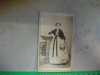 USA 1864 Playing Card Stamp on Antique Photo