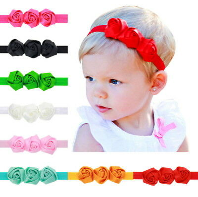 8 Pcs Colors Newborn Baby Girl Headband Infant Toddler Bow Hair Band Accessories