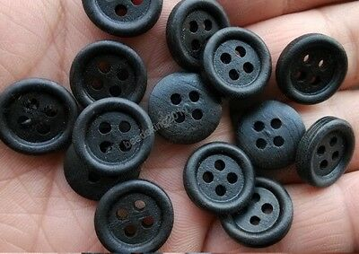 20/50/100Pcs black color wood Sewing Buttons 4holes 15MM