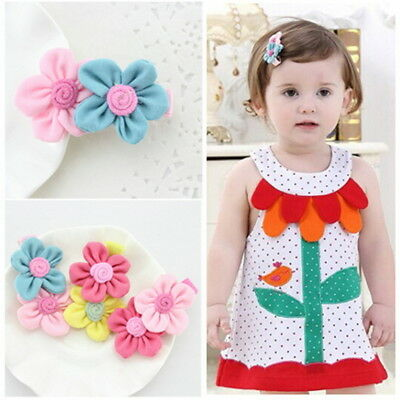 3pcs Toddlers Baby Girls Kids Teens Hair Bows Alligator Clips Flower Barrettes