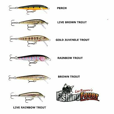 Rapala Count Down CD-5 Fishing Lures Brown Trout, Rainbow Trout, Perch, Live RT