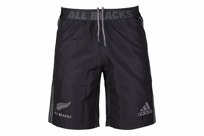 New Zealand All Blacks 2017 Players Woven Rugby Training Shorts Size S-3XL!