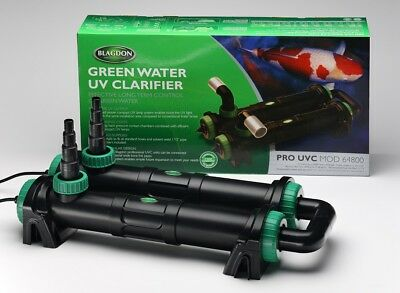 UVC - Green Water Clarifier for Ponds. BLAGDON PRO UVC 64800 72 watt.