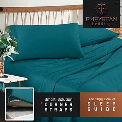 Premium Queen Size Sheets Set - Teal Turquoise Hotel Luxury 4-Piece Bed