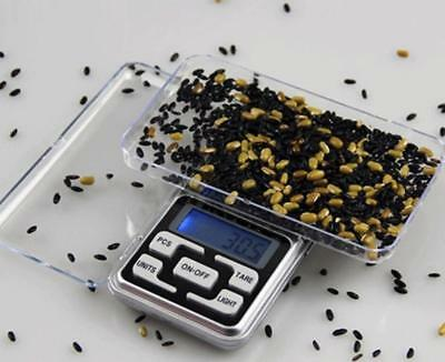 Digital Scale 500g x 0.1g Jewelry Gold Silver Coin Grain Gram Pocket Mini Herb