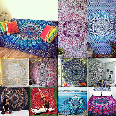 Large Indian Wall Hanging Tapestry Mandala Tapestry Bohemian Throw Ethnic Decor