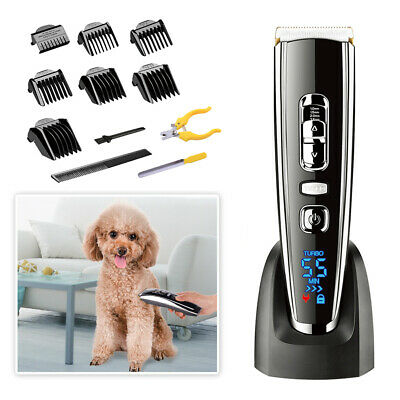 SURKER Rechargeable Electric Clipper Pet Dog Cat Fur Trimmer Grooming Comb Kit