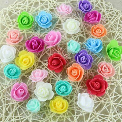 10/50pcs Artificial Fake Flower Silk Rose Heads Bulk Wedding Party Decor Various