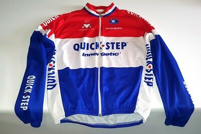 Vermarc Quick Step Long Sleeve Mens Cycling Jersey XXL (Size 6)