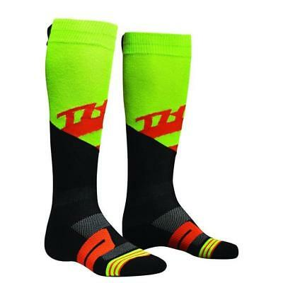 THOR SOCKS MOTO KNIT RIVE Motocross Socken 2018 - lime rot orange Motocross Endu