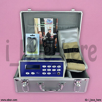 Classic Ionic Detox Foot Bath Cleanse Spa Salon Machine Fir Belt Aluminum Case