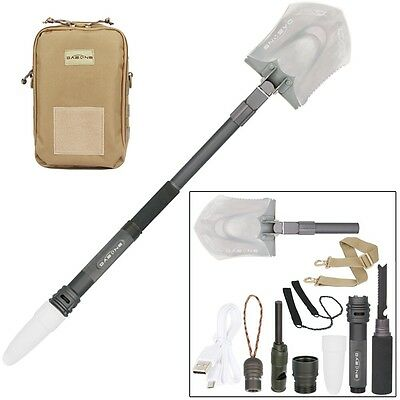 US Multi-functional Hurricane Rescue Folding Shovel Emergency Survival Tools Set