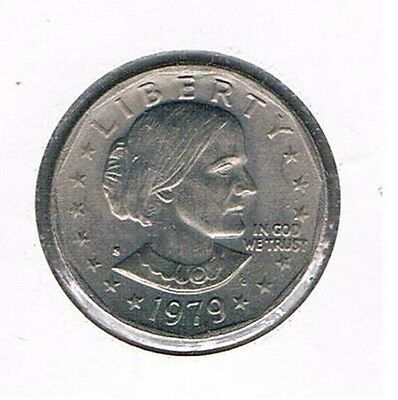 1979 S Susan B. Anthony Dollar - Narrow Rim, Clear S In Au Condition
