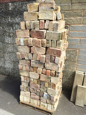 400 x Thirds/ Halves of Oxford Stock Red & Yellow Bricks - Cleaned & Easy access
