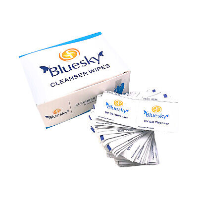 Bluesky UV Gel Cleanser Wipes Prep Wipe Alcohol Gel Polish Nail Wrap Pack of 200