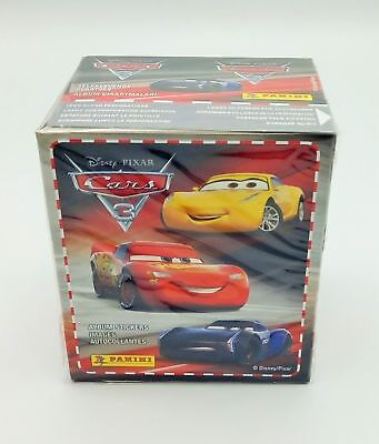 PANINI BOX 50 Bustine CARS 3 DISNEY PIXAR carros 50 packets figurine Stickers