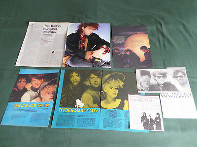 Thompson Twins -  Pop Music - Clippings /cuttings Pack