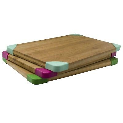 Bamboo Chopping Cutting Board Dicing Kitchen Ware Preparation Eco Non Slip Wood