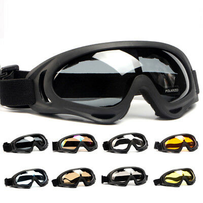 Polarized X400 Adjustable Safety Goggles Airsoft Shooting Anti Fog Work Glasses